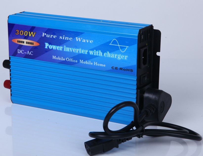 300W Pure Sine Wave Power Inverter with built-in charger and auto transfer switch