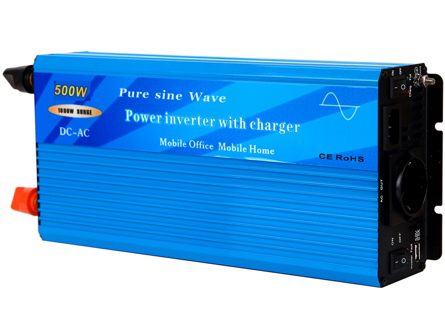 500W Pure Sine Wave Power Inverter with built-in charger and auto transfer switch