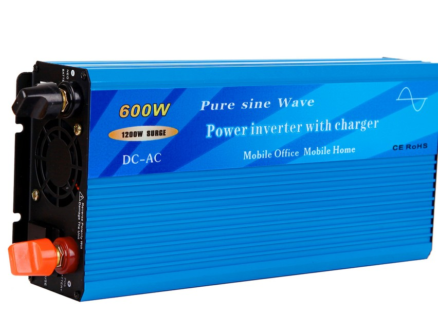 600W Pure Sine Wave Power Inverter with built-in charger and auto transfer switch