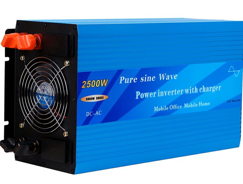 2500W Pure Sine Wave Power Inverter with built-in charger and auto transfer switch