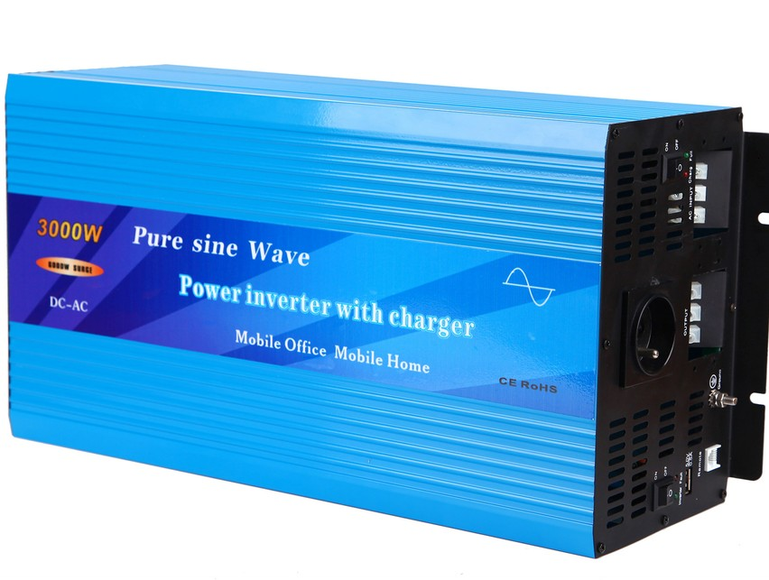 3000W Pure Sine Wave Power Inverter with built-in charger and auto transfer switch